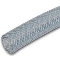 UDP T12 Series T12005004/RBVMK Braided Tubing, 75 ft L, Clear