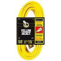 CORD EXT WITH/LT 12/3X50FT YEL