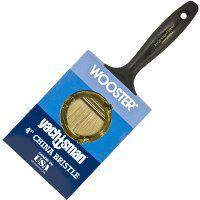 WOOSTER Z1120-4 Paint Brush, 3-3/16 in L Bristle, Varnish Handle, Steel Ferrule