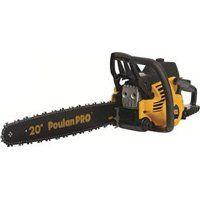Poulan PR5020 Chainsaw, 50 cc, 20 in L Bar/Chain, Rear Handle