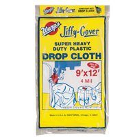 CLOTH DROP PLASTIC 4MIL 9X12FT