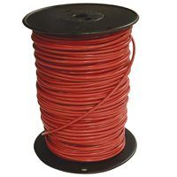 Southwire 6RED-STRX500 Stranded Building Wire, 6 AWG, 500 ft L, Red Nylon Sheath