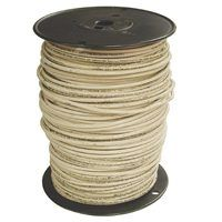 Southwire 4WH-STRX500 Stranded Building Wire, 4 AWG, 500 ft L, White Nylon Sheath