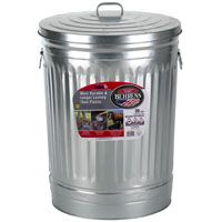 GARBAGE CAN W/LID GALV 20GAL