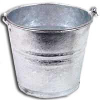 BUCKET WATER HTDP MTL 2 QT