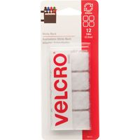 FASTENER VELCRO SQ 7/8IN WHITE