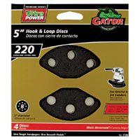 Gator 7720 Random Orbit Sanding Disc, 220-Grit, Extra Fine Grade, Zirconium Oxide, 5 in Dia