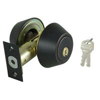 DEADBOLT DBL CYL 6-WAY BRONZE