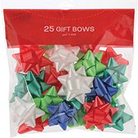 BOWS BAGGED 25CT STICKY BACK