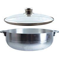 Euro-Ware 97342#11 Stock Pot with Lid, 9.5 qt Capacity, Aluminum