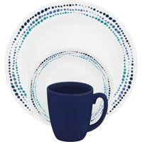 DINNERWARE 16PC OCEAN BLUE