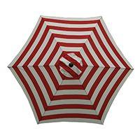 UMBRELLA MARKET 9FT RED/WHITE