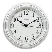 Westclox 46994A Wall Clock, Round, Analog, White Frame