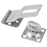National Hardware V32 Series N103-044 Safety Hasp, 3-1/4 in L, 1-1/2 in W, Galvanized Steel