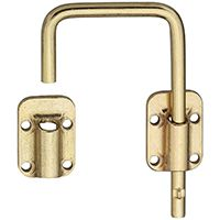 National Hardware N239-004 Sliding Door Latch, Steel, Brass