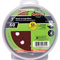 Gator 4345 Random Orbit Sanding Disc, 60-Grit, Coarse Grade, Aluminum Oxide, 5 in Dia