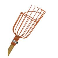 Flexrake LRB190 Tough Grade Fruit Picker With 12 ft Telescoping Pole, Wire, Pull Style Heavy Gauge Vinyl Coated Basket