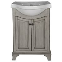 Foremost Corsicana Euro CNAGVT2536 Bathroom Vanity Combo, Antique Black/Antique Gray, Wood