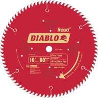 Diablo D1080X Circular Saw Blade, 10 in Dia, Carbide Cutting Edge, 5/8 in Arbor, Steel