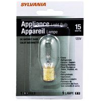 Sylvania 18200 Incandescent Lamp, 15 W, T7 Lamp, Double Contact Bayonet