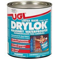 UGL DRYLOK 27512 Masonry Waterproofer, Liquid, White, 1 qt Pail