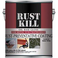 Majic Paints Rustkill 8-6001-1 Rust-Preventive Coating, White, Gloss, 1 gal Can