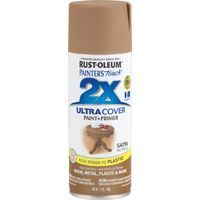 RUST-OLEUM PAINTER'S Touch 249070 General-Purpose Satin Spray Paint, Satin, Nutmeg, 12 oz Aerosol Can