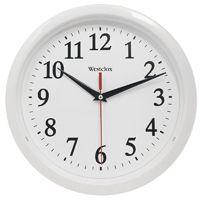Westclox 461761 Wall Clock, Round, Analog Display, Analog, White Frame