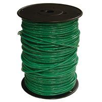 Southwire 6GRN-STRX500 Stranded Building Wire, 6 AWG, 500 ft L, Green Nylon Sheath
