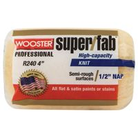 WOOSTER R240-4 Paint Roller Cover, 1/2 in Thick Nap, Fabric Cover, Golden Yellow