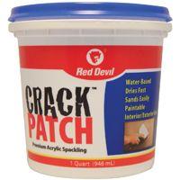 Red Devil 0804 Spackling Paste White, 1 qt Tub