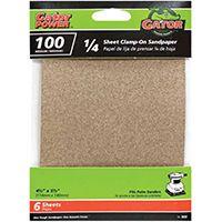 Gator 5032 Sanding Sheet, 100-Grit, Medium, Aluminum Oxide, 5-1/2 in L