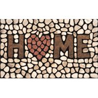 Apache Mills Masterpiece AP 779-1029F Door Mat, Home Stone Surface Pattern, 30 in L, 18 in W, Green