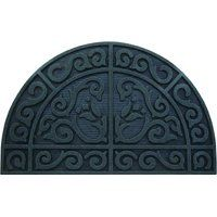 Simple Spaces Half Circle Door Mat, 39 In L X 24 In W, Recycled Rubber