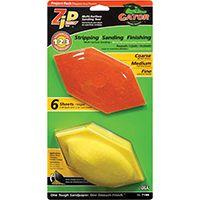 Gator Zip Sander 7186 Sander Tool Kit, 80/120/220-Grit, Extra Fine/Fine/Medium