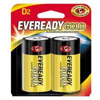 Energizer A95BP-2 Alkaline Battery, D, Zinc, Manganese Dioxide, 1.5 V