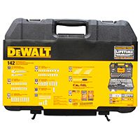DeWALT DWMT73802 Mechanic's Tool Set, Polished Chrome Vanadium, 142-Piece