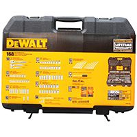 DeWALT DWMT73803 Mechanics Tool Set, Polished Chrome Vanadium, 168-Piece
