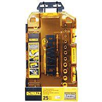 DeWALT DWMT73805 Socket Set, Polished Chrome Vanadium, 25-Piece
