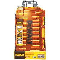 DeWALT DWMT73812 Metric/SAE Socket Set, Chrome, 20-Piece