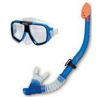 INTEX 55948 Swim Mask Set, Polycarbonate Lens, Thermoplastic Rubber Frame