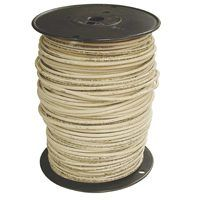 Southwire 8WHT-STRX500 Stranded Building Wire, 8 AWG, 500 ft L, White Nylon Sheath