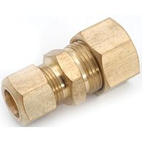 Anderson Metals 750082-0604 Tube Reducing Union, 3/8 x 1/4 in Compression, 300 psi, Brass