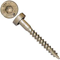 MiTek LL915R50 Structural Screw, #9 Thread, Twin Lead, T20 Drive, Gimlet Point