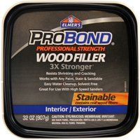 Elmers P9892 Paintable, Stainable Wood Filler, 1 qt Tub