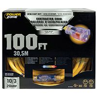 PowerZone Sjtow Tblade Extension Cord, 10/3, 100 Ft