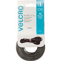 VELCRO Brand One Wrap 90924 Fastener, Black/Gray