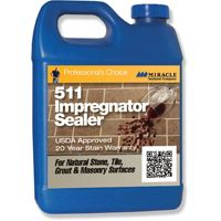 MIRACLE SEALANTS 511 Series 511-QT-6/1 Penetrating Impregnator Sealer, Colorless, 1 qt Can