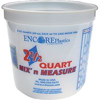 ENCORE Plastics 300344 Disposable Paint Container, 2.5 qt Capacity, Plastic