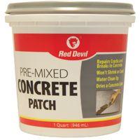 Red Devil 0644 Concrete Patch, 1 qt Tub